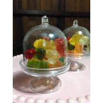 3 Souvenirs Cápsula Mini Porta Cupcake Campana Frasco 8x5,5