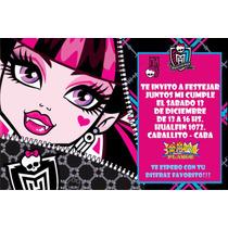 Monster High Invitaciones Tarjetas Cumpleaños Personal X20