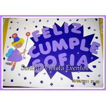 Cartel Cumpleaños Bienvenida Personalizado Nombre Personaje