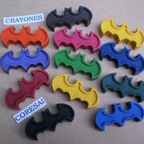 Crayones - Souvenirs - Superheroes - Batman - Pack X 24