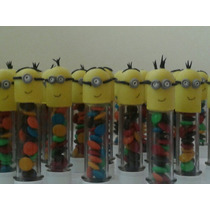 10 Tubos Golosineros Minions