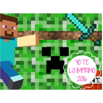 Kit Imprimible Minecraft + Candy Bar Ytli2016