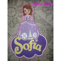 Cartel Con Nombre Princesita Sofia