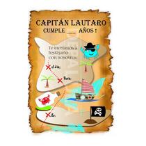 Tarjeta Invitación Cumpleaños Infantil Pirata!