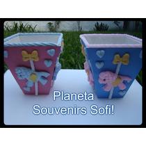 Macetas Decoradas Carrusel Porcelana Fría Candy Bar Souvenir