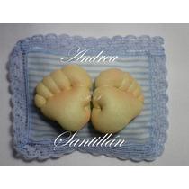Souvenirs Piecitos Baby Shower Nacimiento 1°añito Bautismo