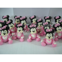 Souvenirs Minnie Mickey Mouse Bebe, En Porcelana Fria
