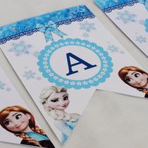 Banderin Personalizado Frozen Elsa Ana Cumpleaños Decoracion