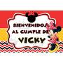 Cartel Bienvenida Cumpleaños Personalizado