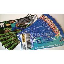 Tarjeta Invitaciones X30u Tipo Ticket Cumpleaños - Eventos