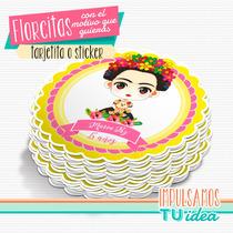 Frida - Tarjetita Souvenir Para Imprimir