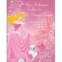 Tarjetas Invitaciones Princesa Aurora Baby Shower X 12