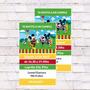 Invitaciones Mickey Mouse X10u