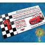 Cars Rayo Macqueen Mcqueen Tarjeta Cumpleaños Invitaciones