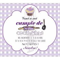 Tarjeta Invitación Cumpleaños Infantil Cocineritas!
