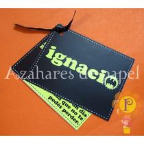 Batman Invitaciones Cumpleaños 1 Año Infantil Cumple Tarjeta