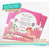 Frutillitas Bebe - Invitación Frutillitas Para Imprimir