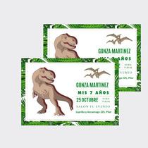 Invitaciones Tarjetas Dinosaurios Infantiles X10u