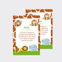 Invitaciones Infantiles Animales De La Selva X10u