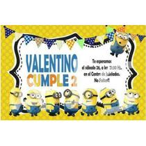 Tarjeta Invitacion Cumpleaños Minions,mickey, Minie,frozen