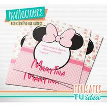 Minnie - Tarjetita Minnie Shabby Para Imprimir
