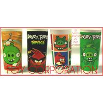 Vaso Plástico Temática Angry Birds Ideal Regalo Niños Bebés