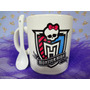 Tazas Monster High , Polymero, Cumple, Infantil, Bautismo
