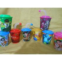 Souvenirs Ben10 Cars Mickey Etc Vasos Tapa Y Sorbete.