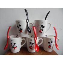 Tazas Mates Souvenirs Personal. C/ Cuchara O Bombilla Mickey