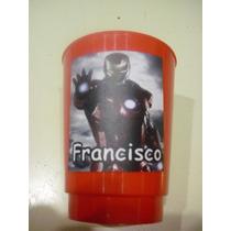 Vasos Plasticos Personalizados Iron Man Lavables 10u