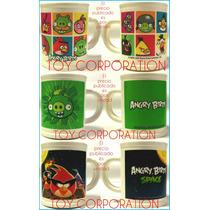 Taza Plástica Temática Angry Birds Ideal Regalo Niños Bebés
