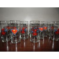 Vasos Souvenirs Vidrio Superman Hbre Araña Capitan Am Batman