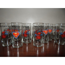 Vasos Souvenirs Vidrio Superman Hbre Araña Capitan Am Batman