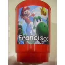 Vasos Plasticos Personalizados Mario Bros Lavables 10u
