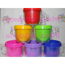 Tazas De Colores Plásticas Ideales P/personalizado Pack X 30