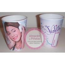 Vasos Descartables Artesanales Personalizados Violetta