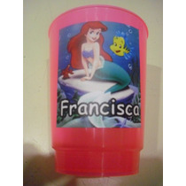 Vasos Plasticos Personalizados La Sirenita Lavables 10u