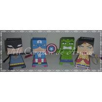 10 Cajitas Golosineras De Superheroes