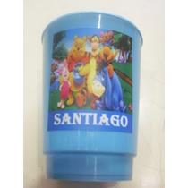 Vasos Plasticos Personalizados Winnie Pooh Lavables - 10u