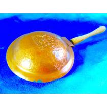 El Arcon Antigua Vasija De Cobre Mango Madera De Chile 4529