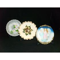 Transferir - Trio De Platos Decorativos En Ceramica Y Pasta