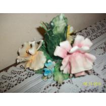 Porta Vela. Candelero Floral. Corona Y N Capodimonte (baiut)