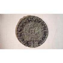 Calendario Maya O Azteca Piedra Verde Mide 17 Cm Diametro