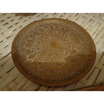 Antiguo Platito En Bronce Labrado Imp.india