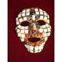 Antigua Mascara Energetica Con Piedras Y Mosaicos De Nacar