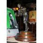 Antigua Estatuilla Boxeador De Peltre 30cm (3914)