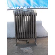 Antiguo Radiador De Aluminio Adaptado A Gas