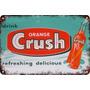 Carteles Antiguos De Chapa Gruesa 20x30cm Crush Dr-040