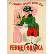 Cartel Antiguo En Chapa Gruesa 20x30cm Fernet Branca Dr-069