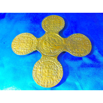 El Arcon Antiguo Apoyapavas De Bronce Labrado Monedas 19066
